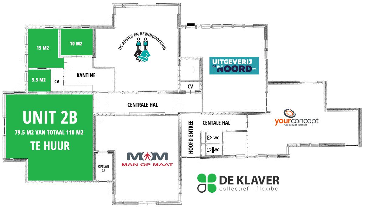 plattegrond kantooruimte